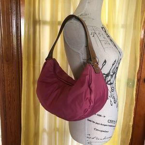 Kate Spade Pink Nylon & Leather Shoulder Bag